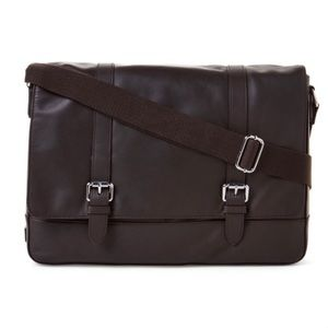 Cole Haan Men's Smooth Leather Messenger Bag